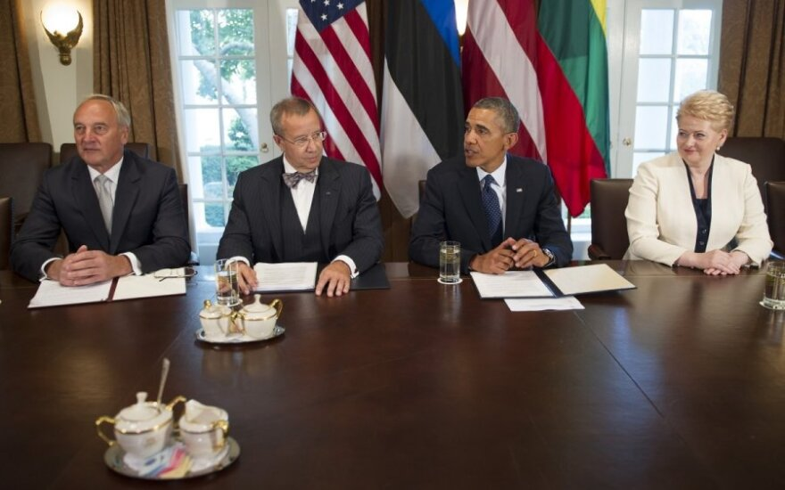 Meeting of the Baltic leaders and Barack Obama in 2013