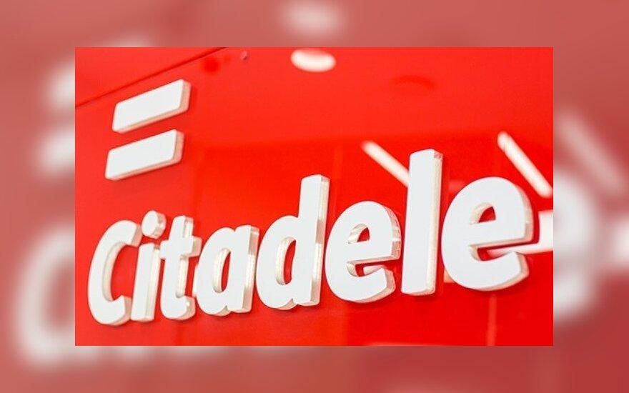 """""""Citadele"""" bankas šiemet uždirbo 1,1 mln. eurų pelno"""