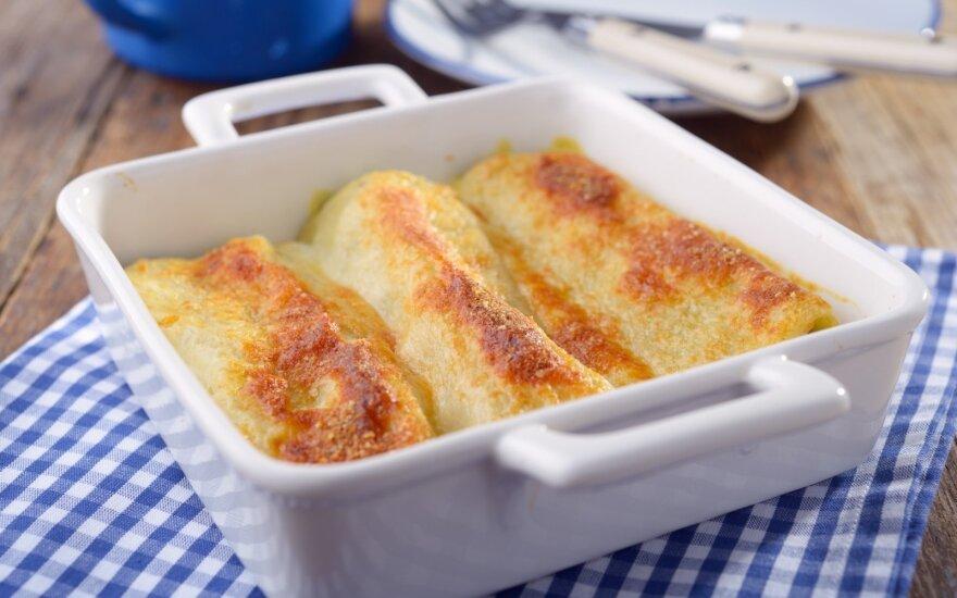 Cannelloni su varške ir cinamonu