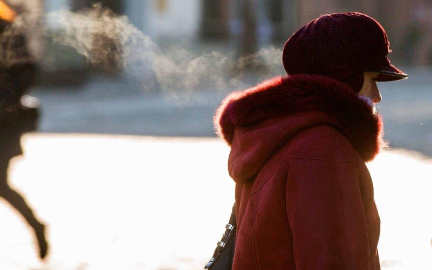 Orai: paspaus žiemiškas šaltis, stiprės žvarbus vėjas