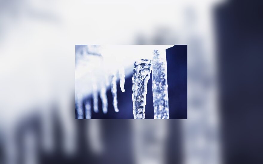 ledas, varveklis, žiema, šaltis