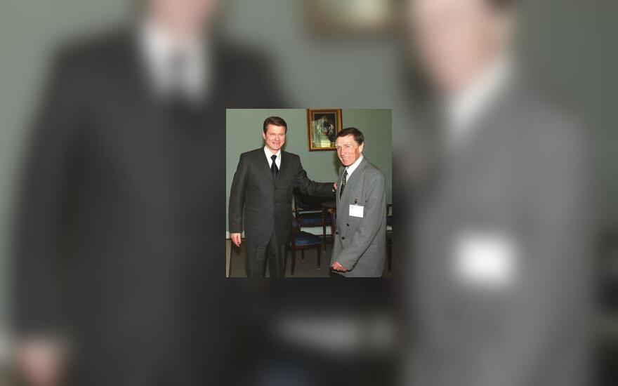 Petras Silkinas su Rolandu Paksu