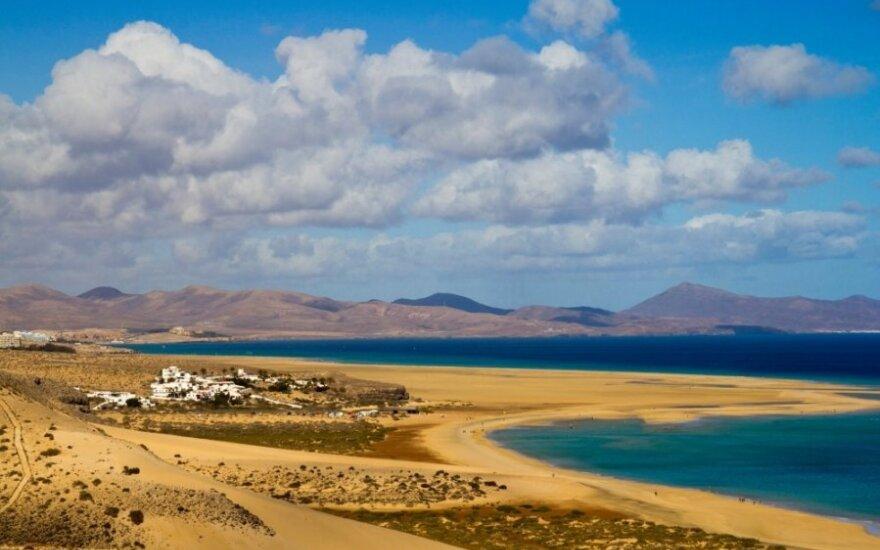 Fuerteventūra: čia net tinginiai tampa vandens sporto aistruoliais