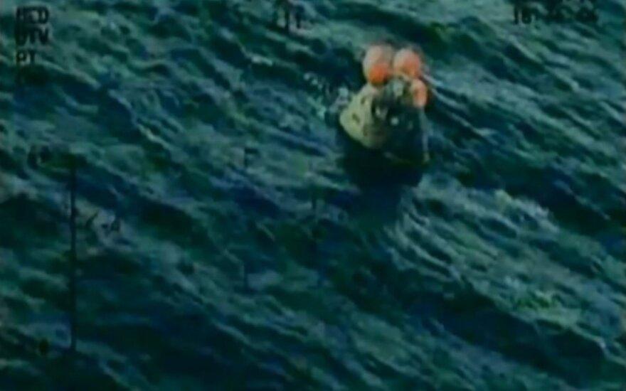 """""""Orion"""" kapsulė nusileidusi Ramiajame vandenyne"""