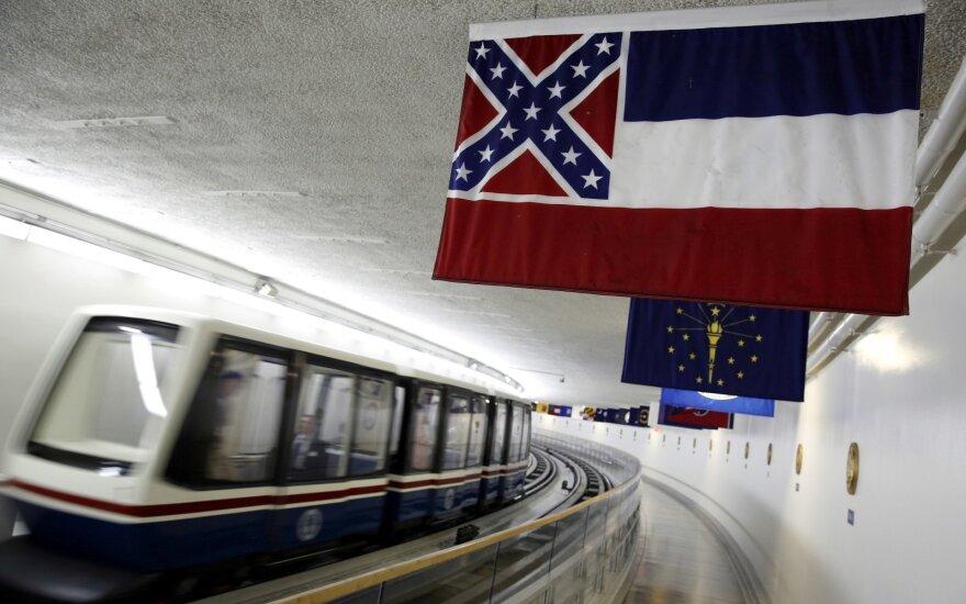 Misisipė nubalsavo už konfederatų simbolio pašalinimą iš valstijos vėliavos