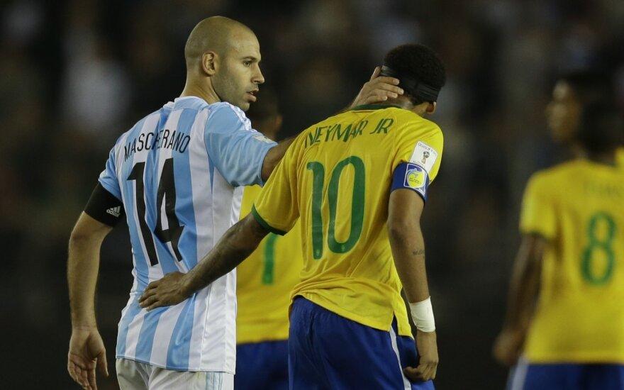 Javieras Mascherano ir Neymaras