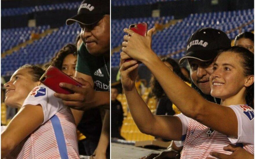 Incidentas stadione su Sofia Huerta