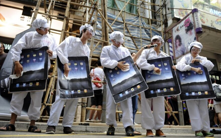 Protestas dėl darbo sąlygų Apple gamyklose