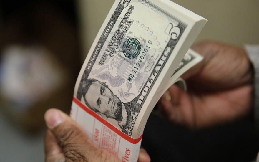 JAV iždo obligacijų palūkanų normos kilo