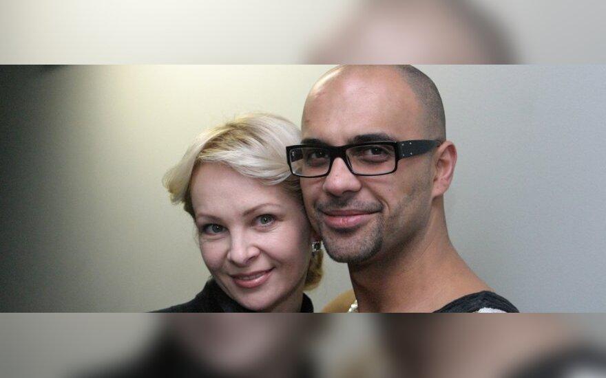 Edmundas Štengeris-Mundis su žmona Violeta
