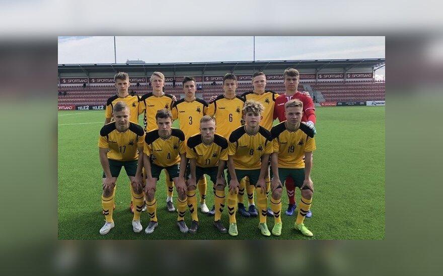 Lietuvos 17-mečių futbolo rinktinė nusileido Estijai