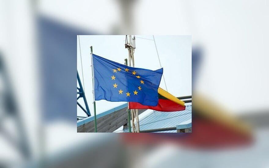 EU and Lithuanian flags