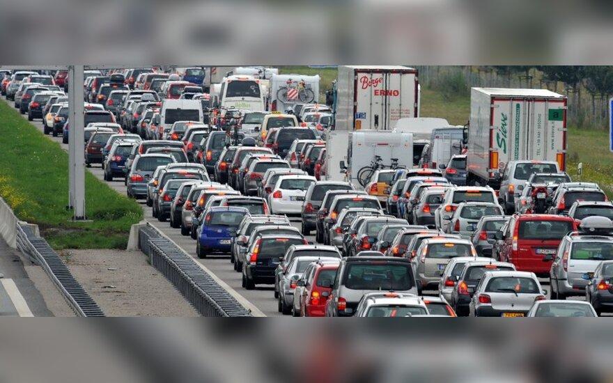 Transporto spūstys Vokietijoje