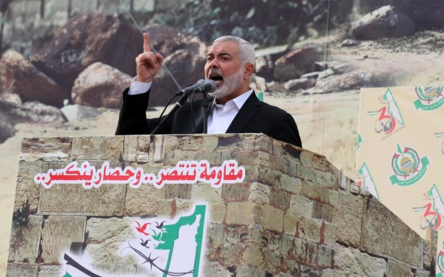 """""""Hamas"""" lyderis Ismailas Haniyeh"""