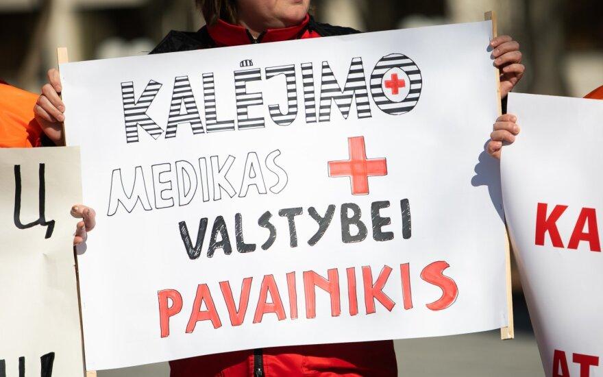 Kalėjimų departamento vadovas: medicinos darbuotojų streikas nėra dialogas