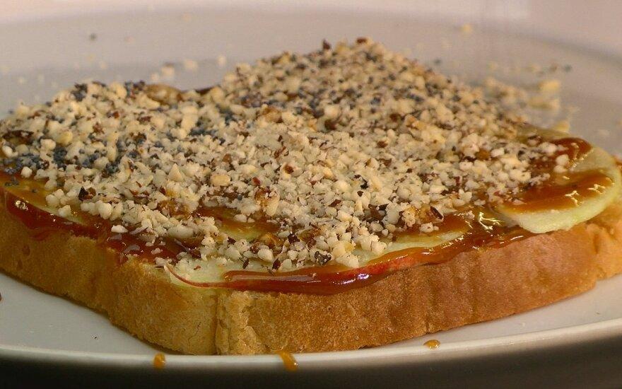 Sumuštiniai su sūria karamele ir obuoliais