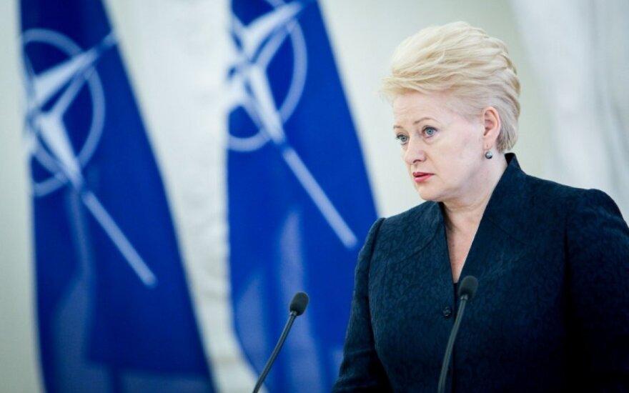"""D. Grybauskaitės pasveikinimas - """"gerumo"""" gestas V. Putinui"""
