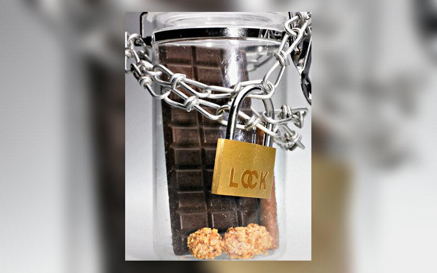 "Indelyje ""įkalintas"" šokoladas"