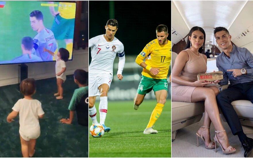 Cristiano Ronaldo vaikai rungtynes stebėjo per TV