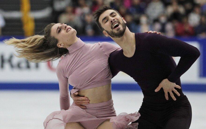 Prancūzijos šokėjų ant ledo pora, pasaulio čempionai Gabriella Papadakis ir Guillaume Cizeron