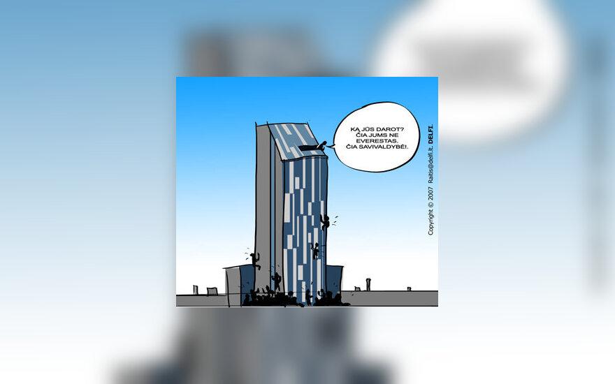 Kova dėl Vilniaus mero posto - karikatūra