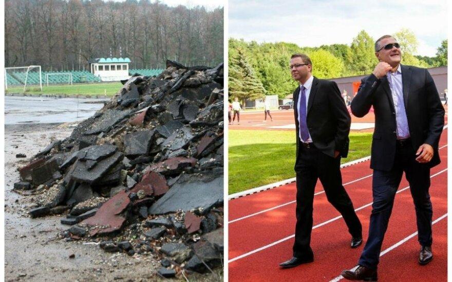 """""""Vingio"""" stadionas per rekonstrukciją ir po jos"""