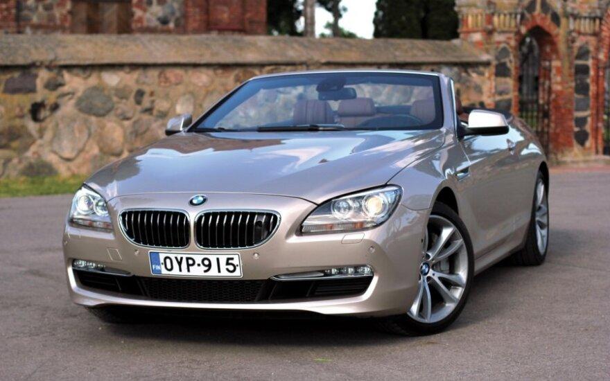 BMW 650i kabrioletas
