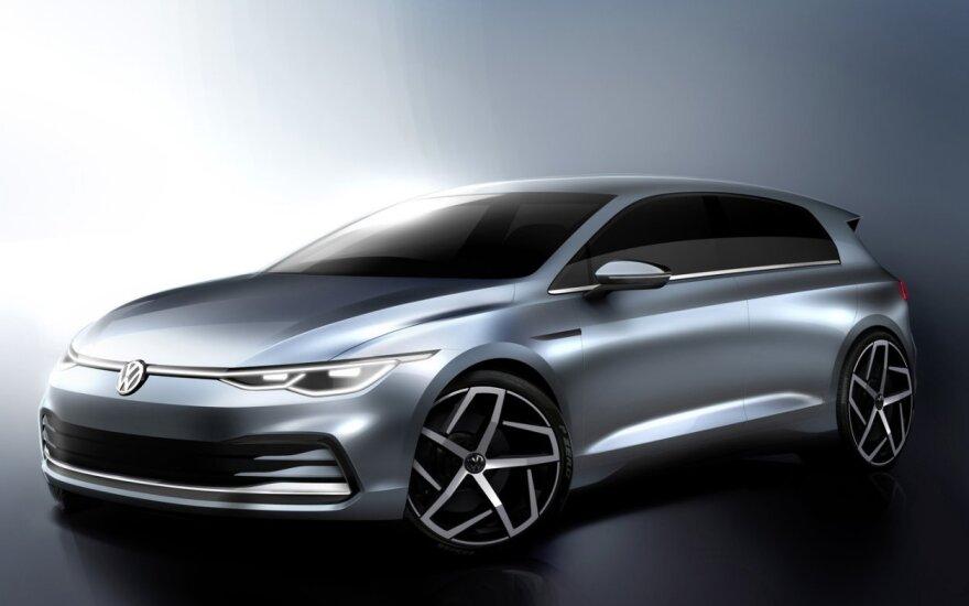 """""""Volkswagen"""" parodė, kaip atrodys 8 kartos """"Golf"""""""