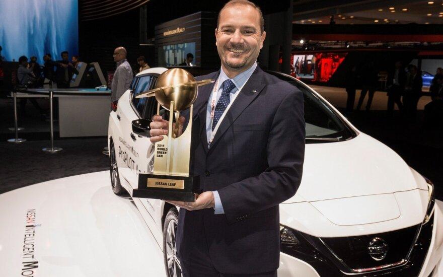 """Naujajam """"Nissan Leaf"""" – """"Pasaulio žaliojo automobilio 2018"""" apdovanojimas"""