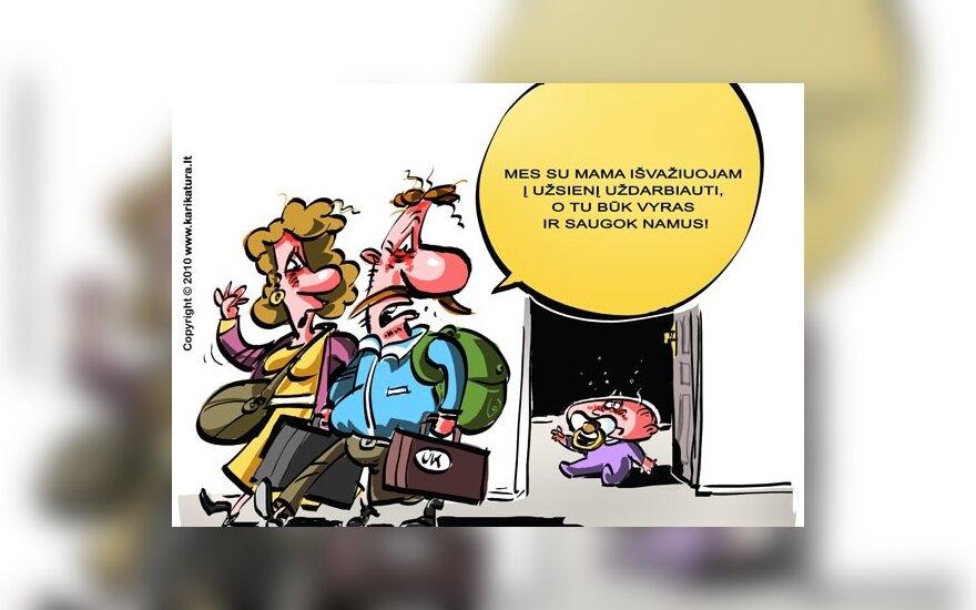 Kova dėl emigrantės vaiko