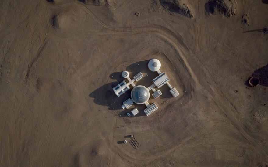Kinijos eksperimentas Gobio dykumoje.