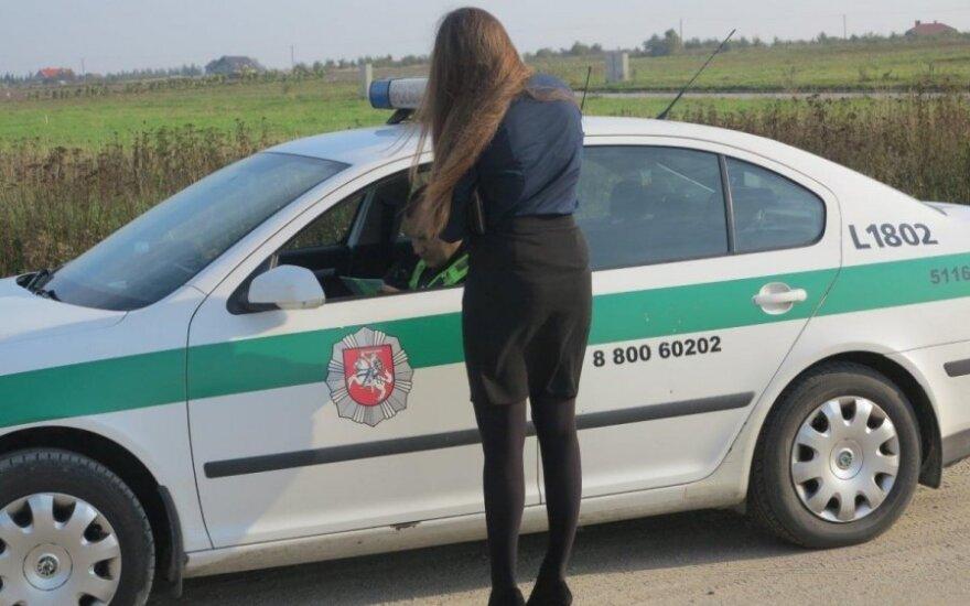 Policija paskelbė, kokiems reidams vairuotojai ruoštųsi spalį