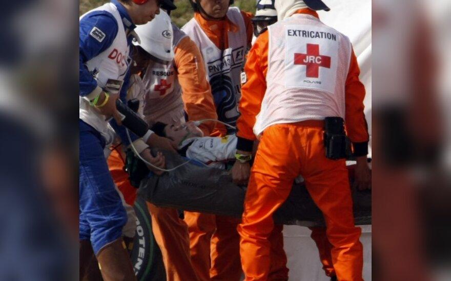 Timo Glockas po avarijos