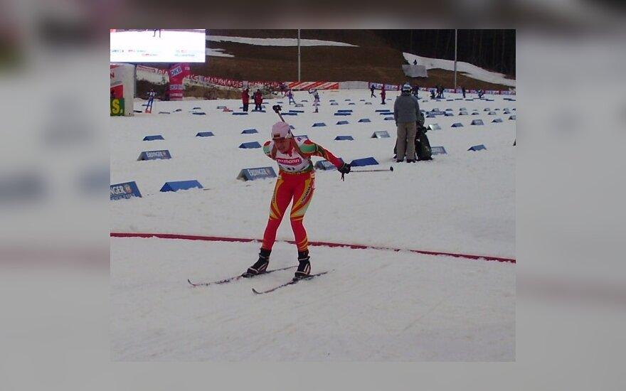 Pasaulio biatlono čempionato 10 km persekiojimo rungtyje D.Rasimovičiūtė finišavo 31-ma