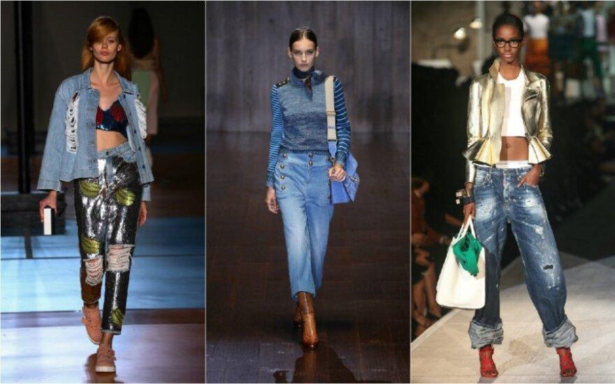 Madingiausi džinsai šių metų pavasariui ir vasarai