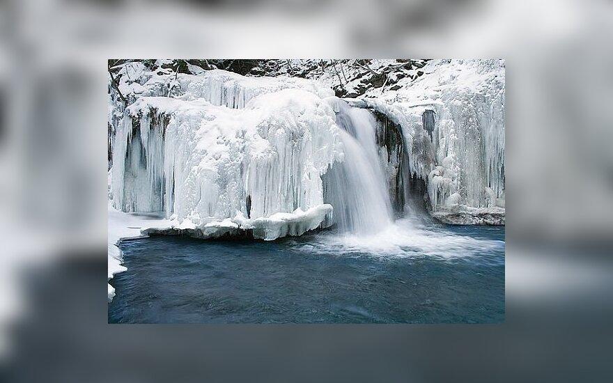 Užšalęs krioklys