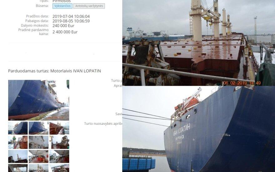 Parduodamas areštuotas laivas