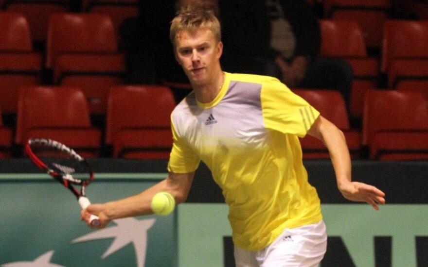 L. Mugevičius pateko į teniso turnyro Turkijoje vienetų ketvirtfinalį