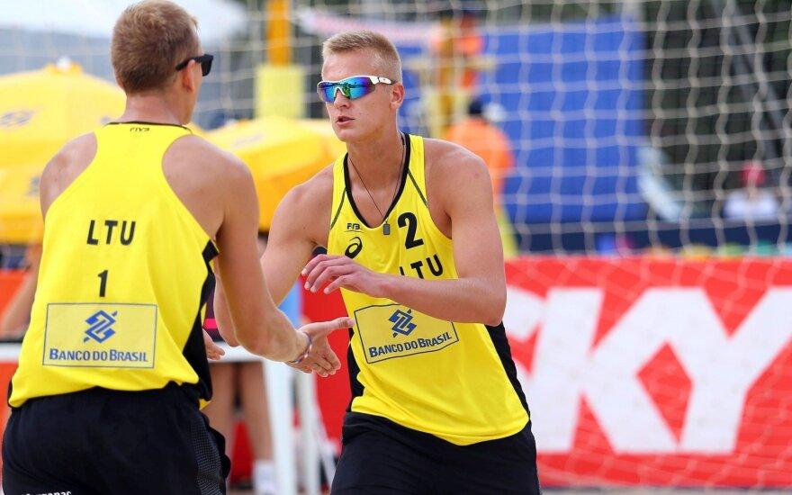 Rumševičius ir Každailis Brazilijoje iškopė į aštuntfinalį