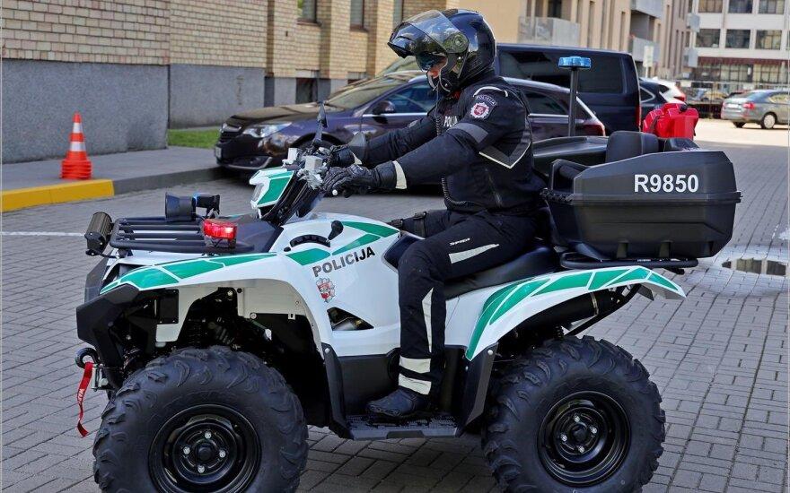 Lietuvos policija papildė savo transporto priemonių parką: pažeidėjus vysis ir su keturračiais
