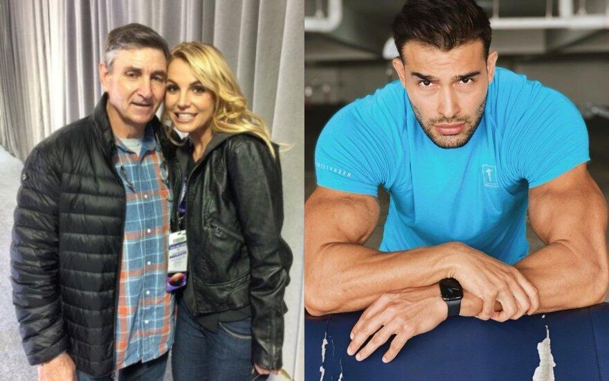 Britney Spears su savo tėčiu Jamie ir žvaigždės mylimasis Samas/ Foto: Vida Press ir Instagram