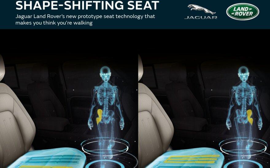 """""""Jaguar Land Rover"""" kuria formą keičiančias sėdynes"""
