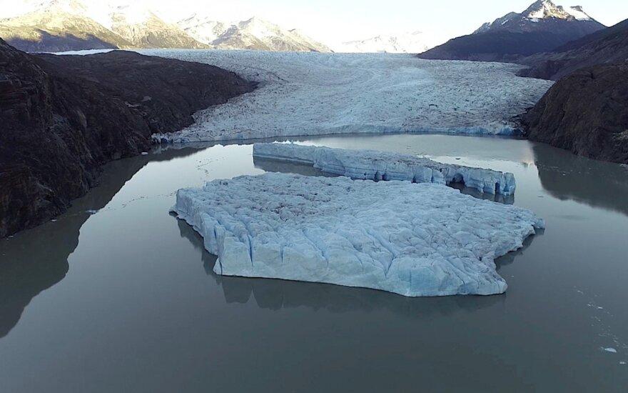 Antarktidoje atskilus dideliam ledo luitui susiformavo didžiulė banga, apgadinta Rusijos ir Kinijos stotis