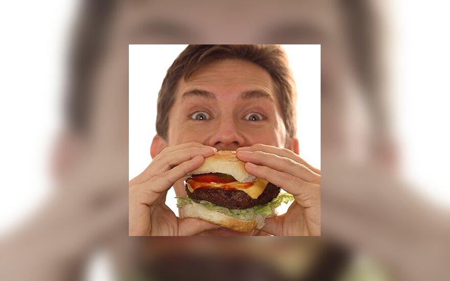 Maistas, alkis, mėsainis, riebalai, kalorijos