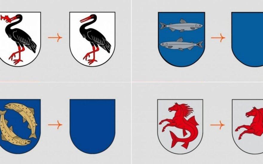 Lietuvos miestelių herbai be žuvų