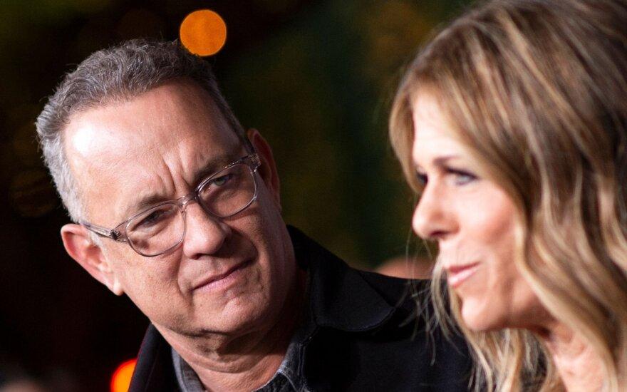 Tom Hanks  su žmona Rita Wilson