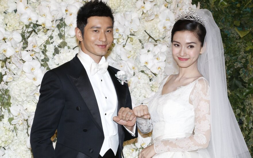 Huang Xiaoming ir Angelababy vestuvės
