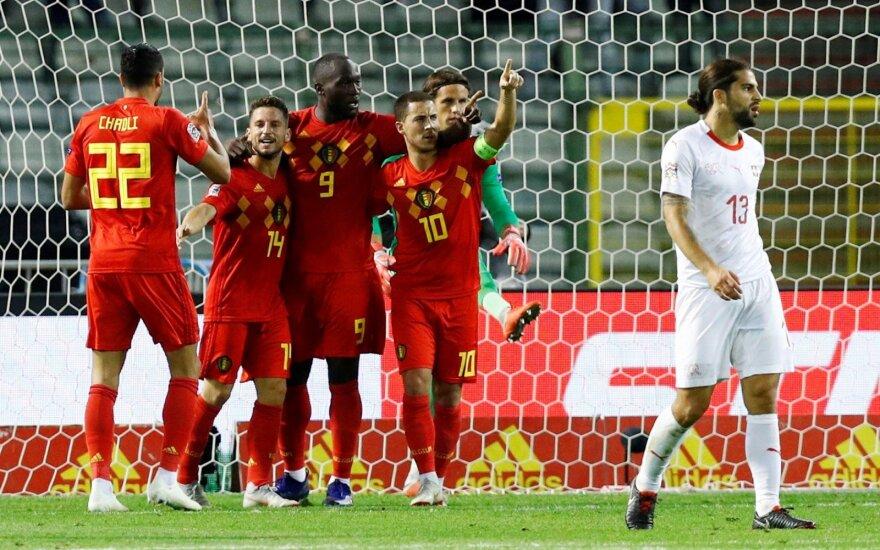 Lukaku dublis ištempė Belgiją, o kroatai su anglais sužaidė lygiosiomis