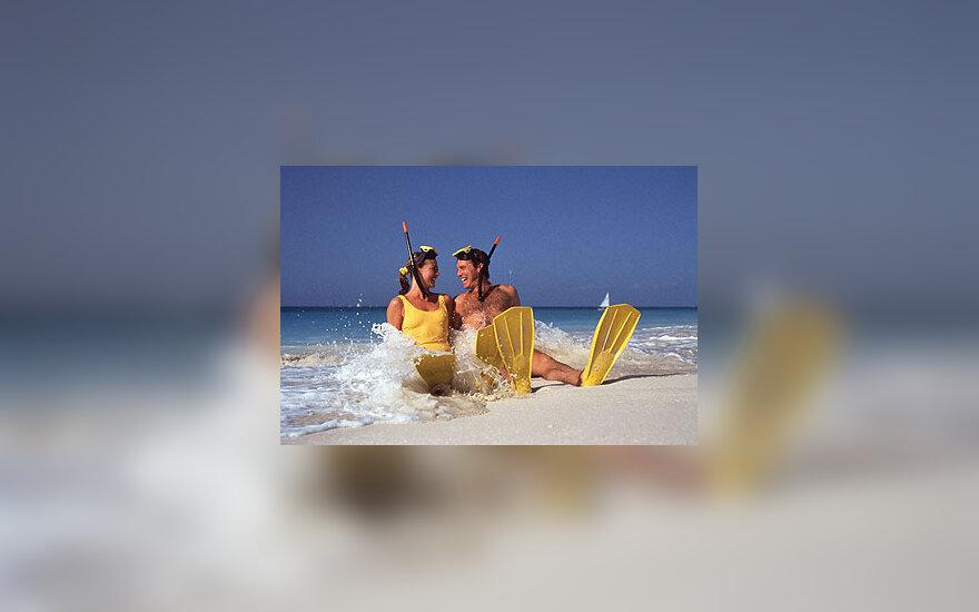 Pora, nardytojai, jūra, atostogos