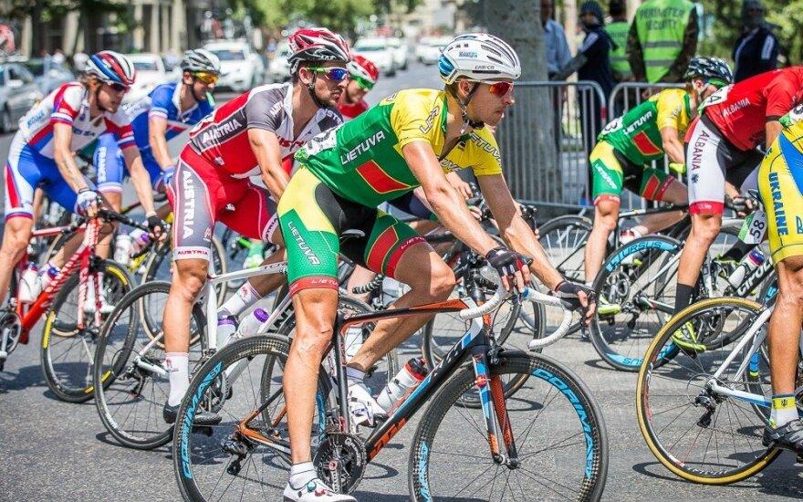 Europos žaidynėse sekmadienį finišavo tik vienas Lietuvos dviratininkas